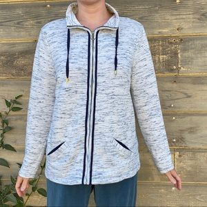 Charter Club | nautical zip up sweatshirt